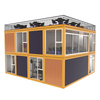 2020 New Arrival Prefab Two Storey 4 Rooms Gym Prefabricated Modular Container Pre Fab House Foldable Expandable House For Gym