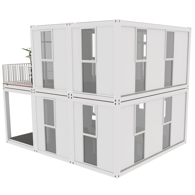 Light Steel Flat Pack summer prefab eco glass house uk for usa Beautiful prefabricated Container Homes European Style House China